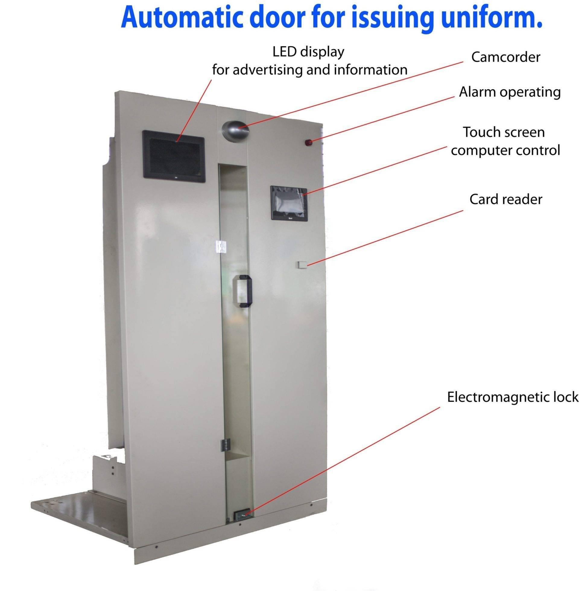 automatic uniform storage door