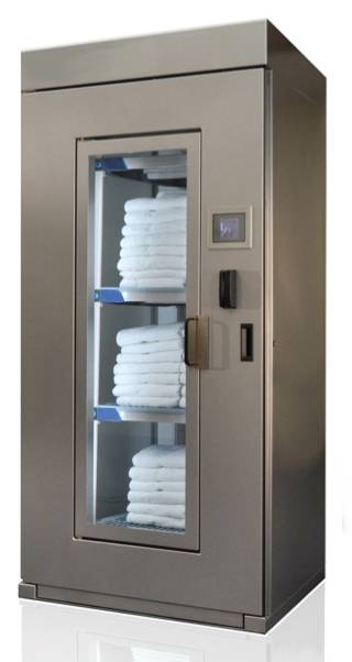 Small RFID towel locker