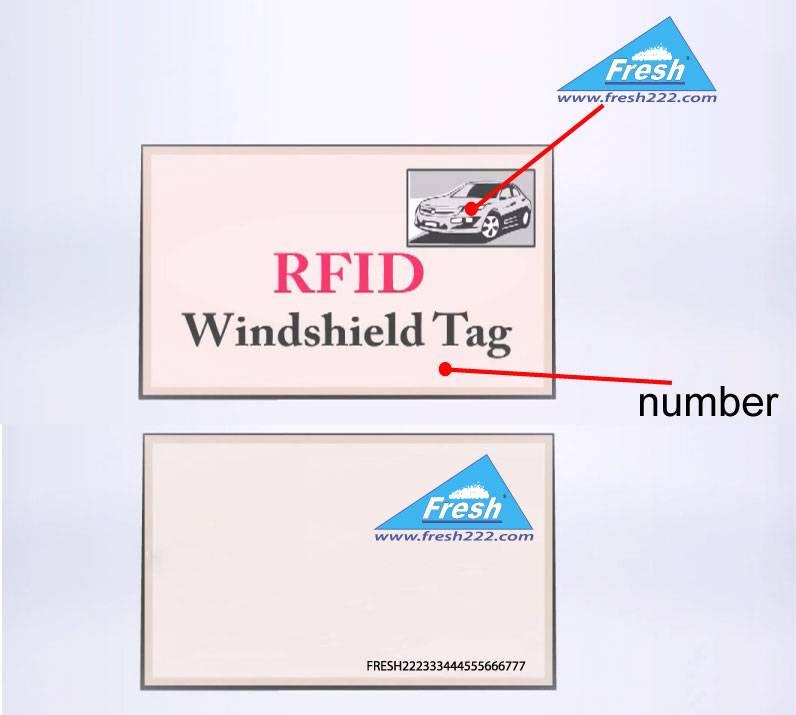 Tag RFID UHF parking systems