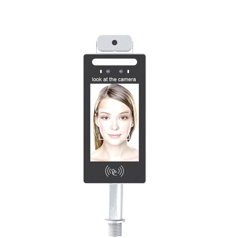 Face recognition access control with temperature measurement