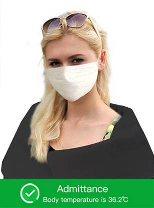 Temperature Access Control with Face Recognition in face mask