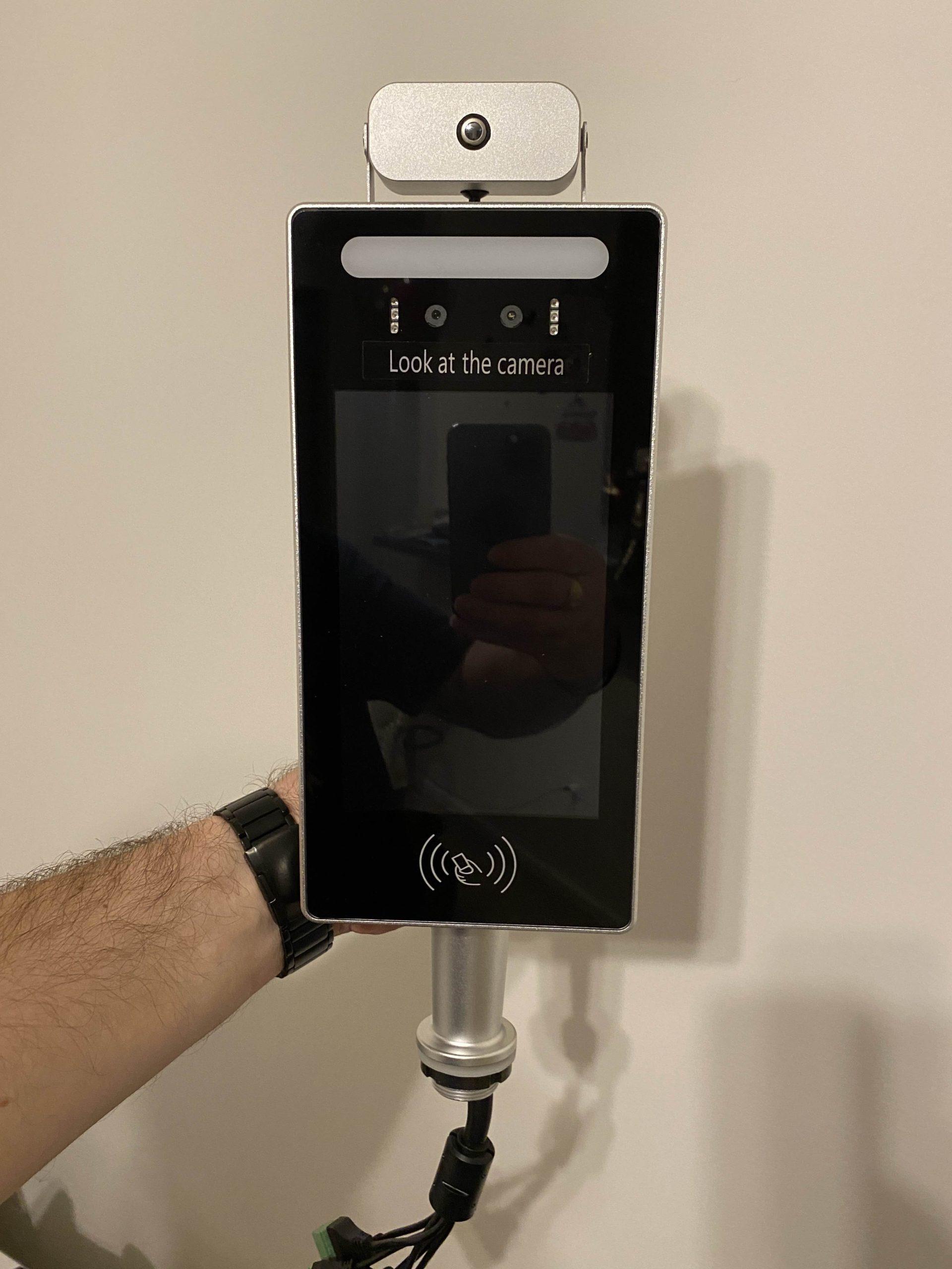 Temperature meter non-contact control