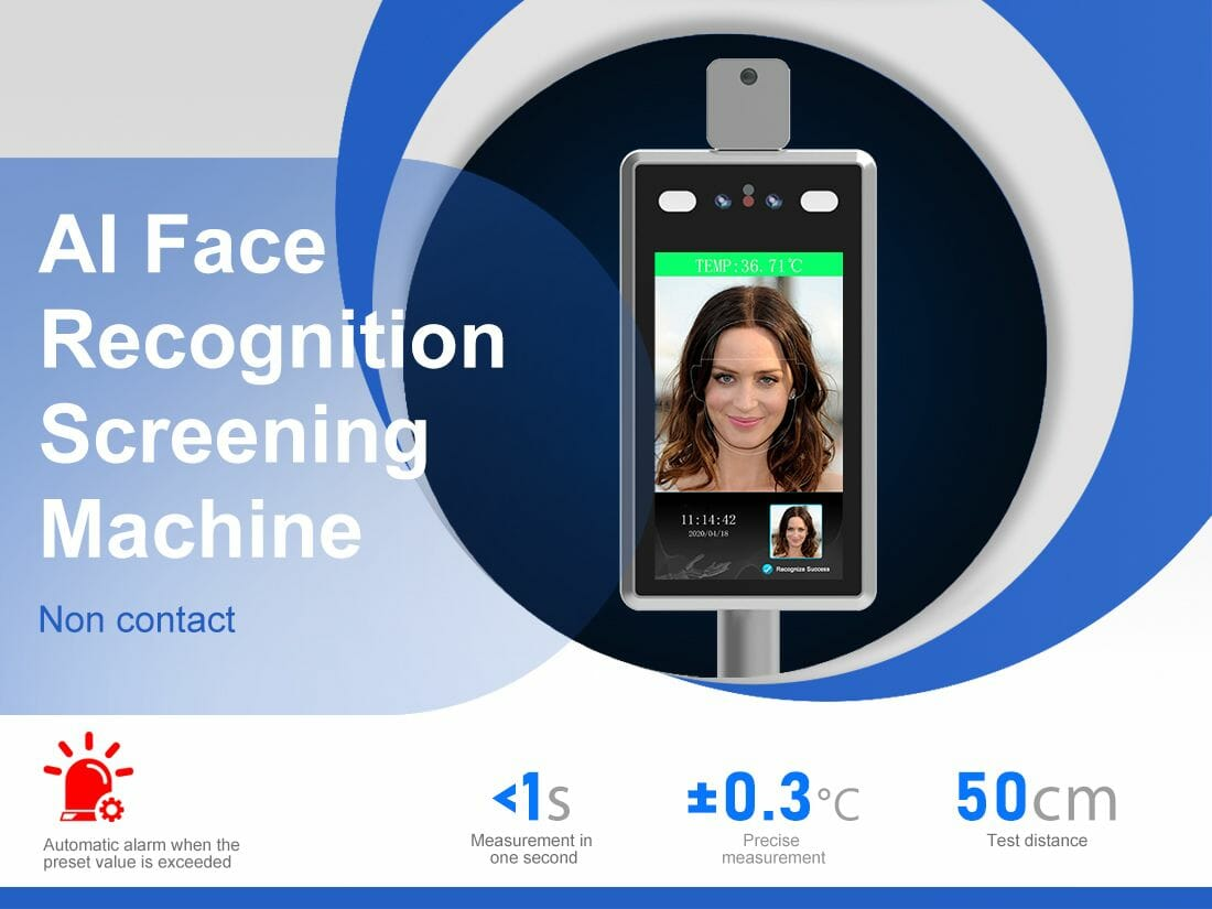 Contactless Face Recognition Temperature Measuring Machine