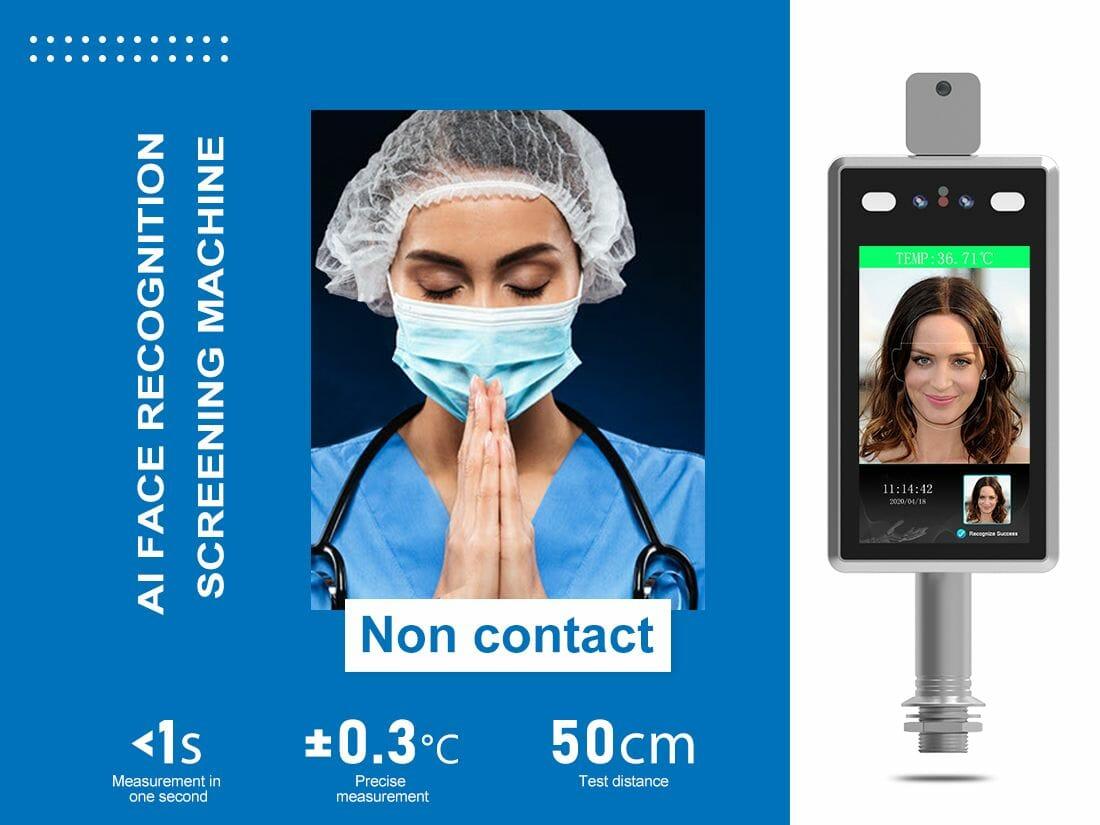 Access control Face Recognition Temperature Measuring Machine